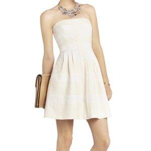 BCBG Maxazria Dorothea Ivory Lace Strapless Dress